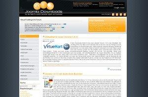Joomla Downloads Bildschirmfoto (retro)