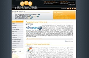 Joomla Downloads Bildschirmfoto (retro)